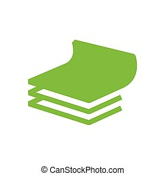 vector paper icon and Logo green color