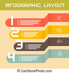 Vector Paper Infographics Layout - Template