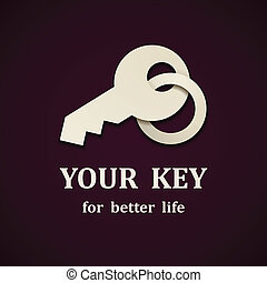 vector paper key icon design template