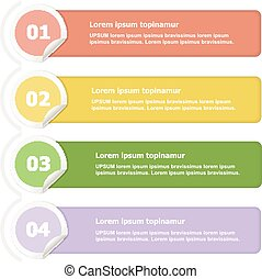 Vector paper lines and numbers design template for web site.