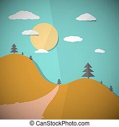Vector Paper Nature Flat Design Illustration