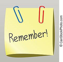 paper note  - vector paper note with paperclips