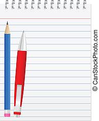Vector paper notebook
