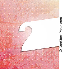 Vector Paper number background