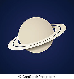 vector paper planet saturn icon
