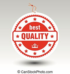vector paper red best quality stamp price tag label