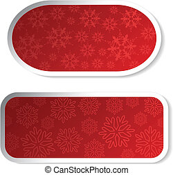 Vector paper red Christmas stickers - labels for advertising