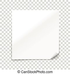Vector paper sheet isolated on transparent background. Vector illustration