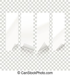 Vector paper sheets isolated on transparent background. Vector illustration