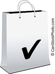Vector paper shopping bag