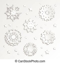 Vector Paper Snowflakes