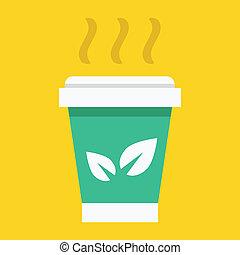 Vector Paper Tea Cup Icon