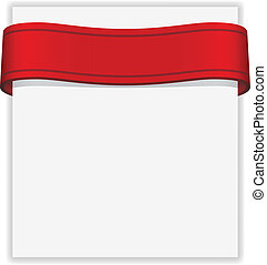 Vector paper with ribbon