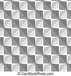 Vector papper stickers cut-out tile grey on white seamless pattern