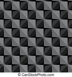 Vector papper stickers cut-out tile grey seamless pattern