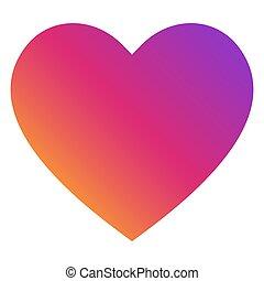 vector., parfait, aimez coeur, symbole., icône