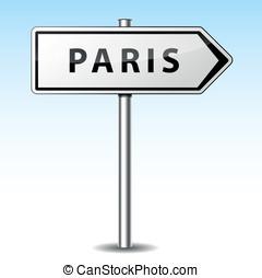 Vector paris directional sign - Vector illustration of paris...