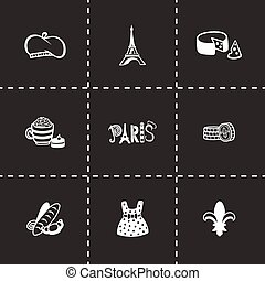Vector Paris icon set