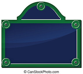 Vector illustration of parisian plate on white background
