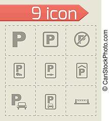 Vector parking icon set