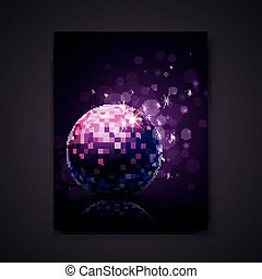 Vector Party Background - Vector Illustration of a Purple...