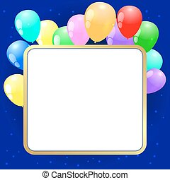 Vector party background with baloons
