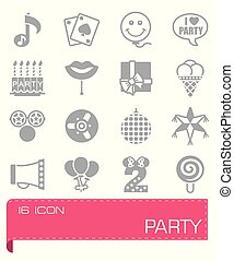 Vector Party icon set