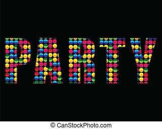 Party Letters Music Disco Colorful Alphabet