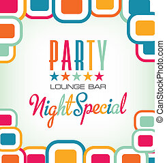 Vector Party Modern Invitation Card