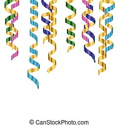 Vector Party Streamers