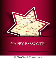Passover card with matza - Vector Passover card with matza (...