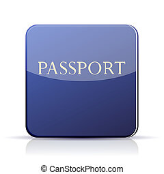Vector passport app icon on white background. Eps 10