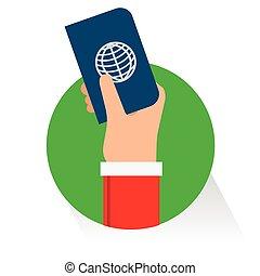 Vector passport flat icon illustration on white background