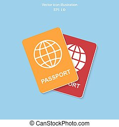 Vector passport icon