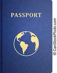 vector passport - vector front cover of passport Isolated on...