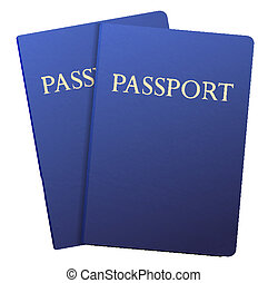 Vector passports isolated on white. Eps10