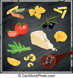 Vector Pasta Elements