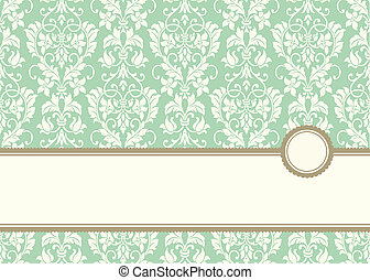Vector Pastel Banner Frame and Background