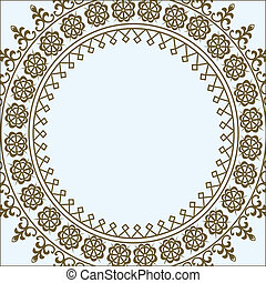 Vector Pastel Circle Frame - Vector ornate frame. Easy to ...