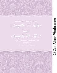 Vector Pastel Damask Frame - Vector floral frame with sample...