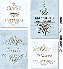 Vector Pastel Frame and Ornament Set.