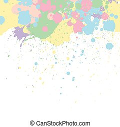 Vector Pastel Paint Background
