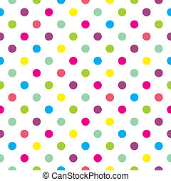 Vector pastel polka dots background - Seamless vector pastel...