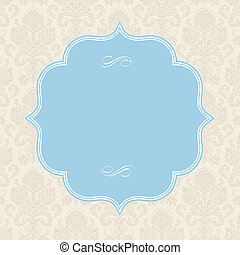 Vector Pastel Square Frame and Ornate Background