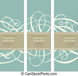 Vector Pastel Tall Ornament Frame Set