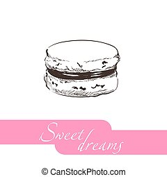 vector pastry illustration - Vector illustration of sweet...
