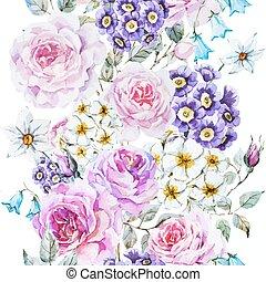 vector, patrón floral