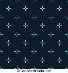 vector, patrón, seamless, puntería, más, fondo., ilustración...