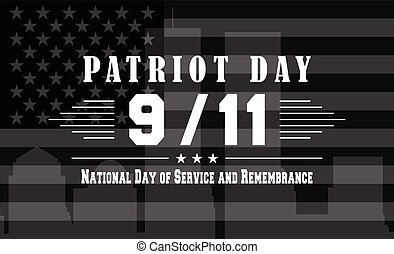 Vector Patriot Day dark background with National day of...
