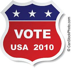 vector patriotic vote sticker
